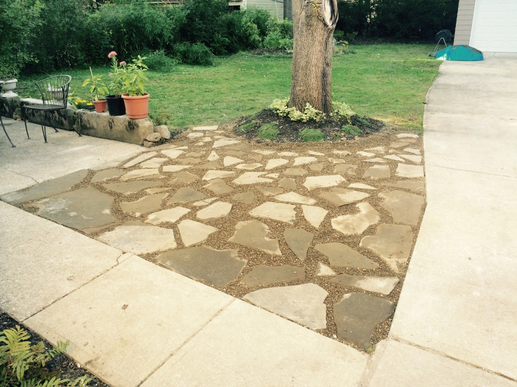 Brand-new Flagstone Patio Project - CLE Landscaping Co., LLC WY75